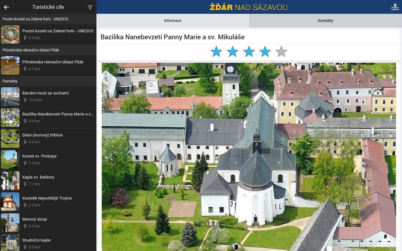 The city of Zdar nad Sazavou- screenshot