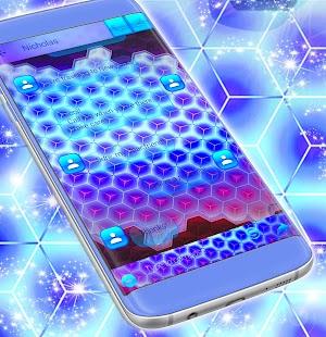 3d Neon SMS Téma - náhled