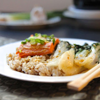 Miso Trout with Sesame Garlic Bok Choy and Brown Rice - Gluten-Free