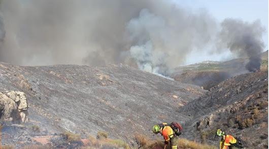 Dan por extinguido el incendio de Terque tras cinco días de labores