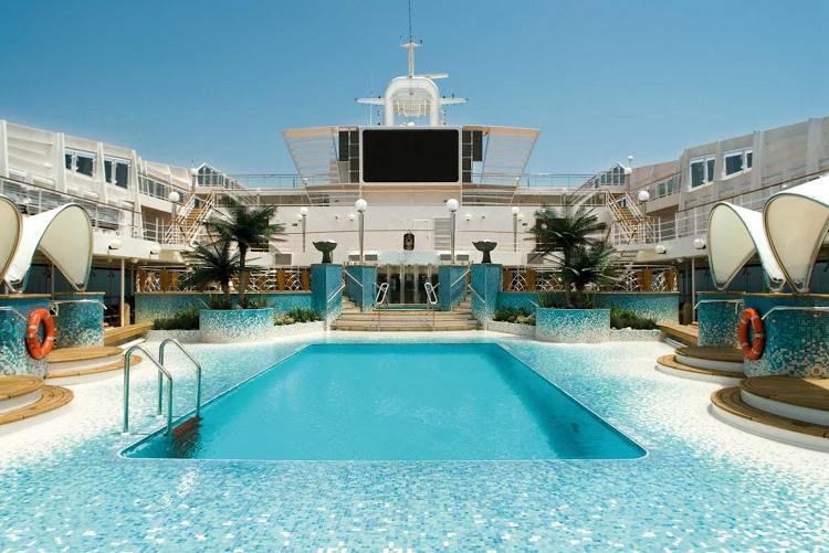 The Copacabana Pool on MSC Musica, which repositions from Venice to Rio de Janeiro in November.