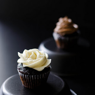Mini Chocolate Cupcakes with Swiss Meringue Buttercream