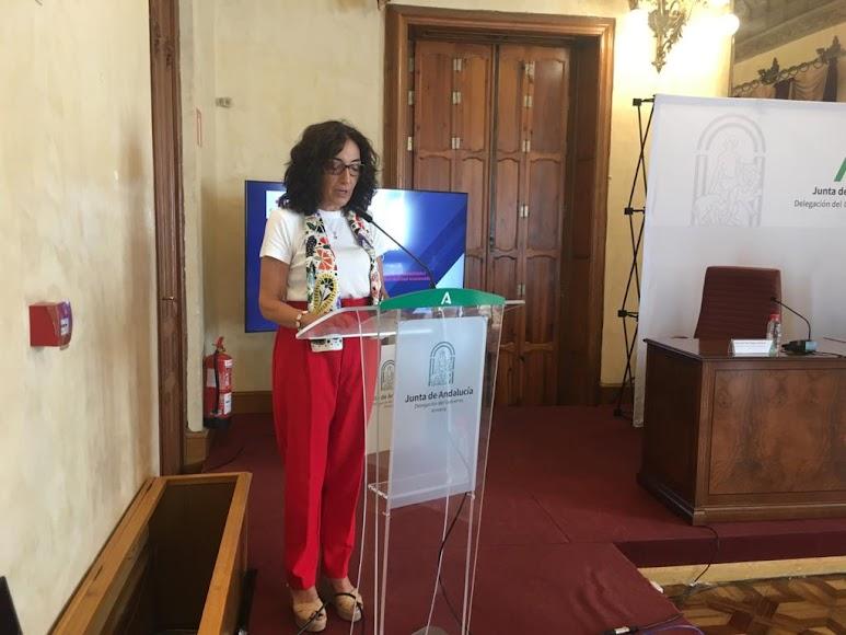 Intervención de Mª del Mar Pageo, presidenta de Cruz Roja Andalucía.