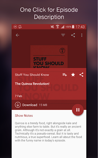 Podcast Player 6.4.0-200617118.rc73df2a screenshots 6