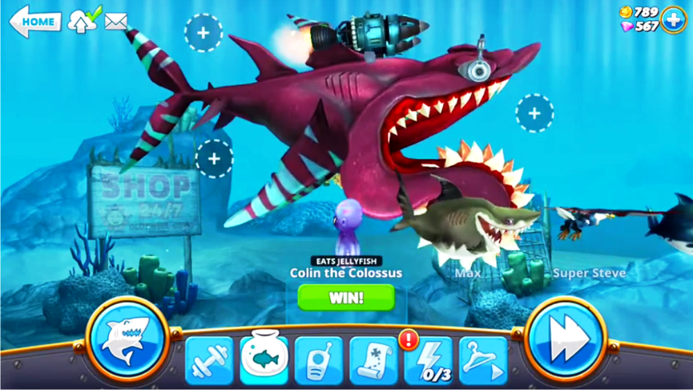 Cheat Hungry Shark World Screenshot