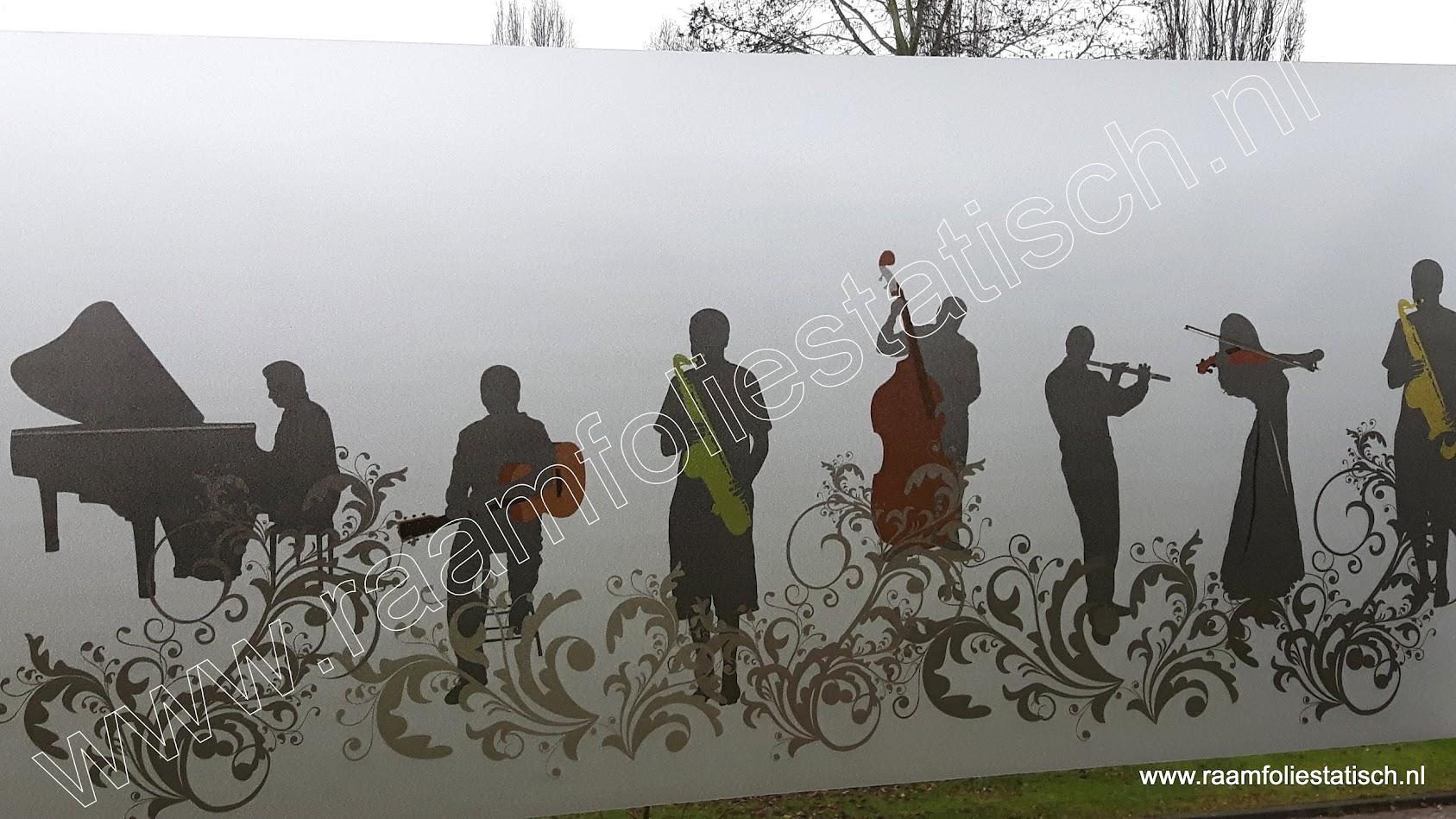 Statische raamfolie muziek / music