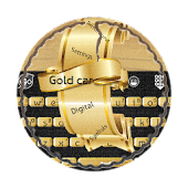 Gold car GO Keyboard