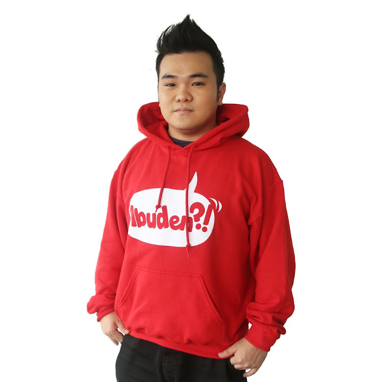 [MEDIUM] ABUDEN?! HOODIE - UNISEX RED by JinnyboyTV