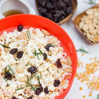 Marcona Almond + Dried Cherry Popcorn with Crispy Rosemary Recipe