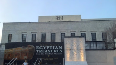 Photo: Banner for the Egyptian Treasures exhibit at the Frist Center