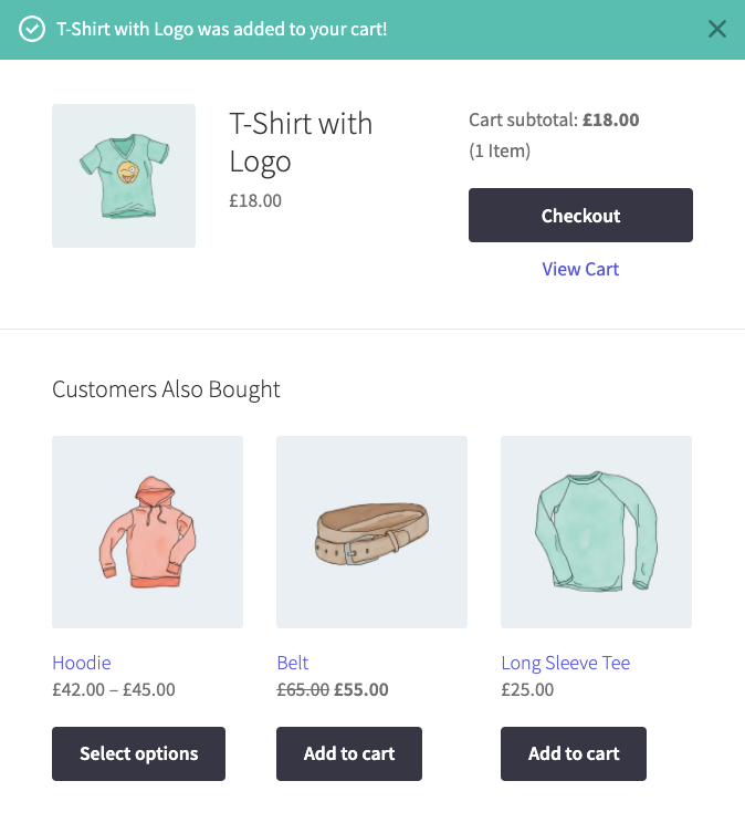customers also bought WooCommerce