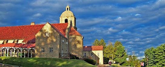 Photo: Storm clouds enhance the  beauty of St. Elizabeth Chapel, Bensalem, PA
