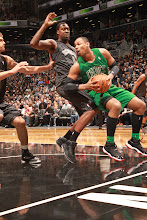 Photo: BROOKLYN, NY - DECEMBER 25: Jared Sullinger #7 of the Boston Celtics drives against the Brooklyn Nets on December 25, 2012 at the Barclays Center in Brooklyn, New York. NOTE TO USER: User expressly acknowledges and agrees that, by downloading and or using this photograph, User is consenting to the terms and conditions of the Getty Images License Agreement. Mandatory Copyright Notice: Copyright 2012 NBAE (Photo by Ray Amati/NBAE via Getty Images)