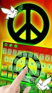 Rasta Peace Reggae Keyboard - náhled