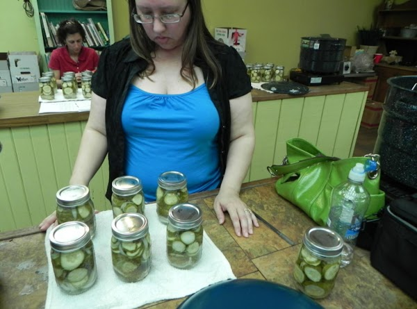Remove jars and complete seals unless closures are self-sealing type. Makes 6 pints.  ----Now here...