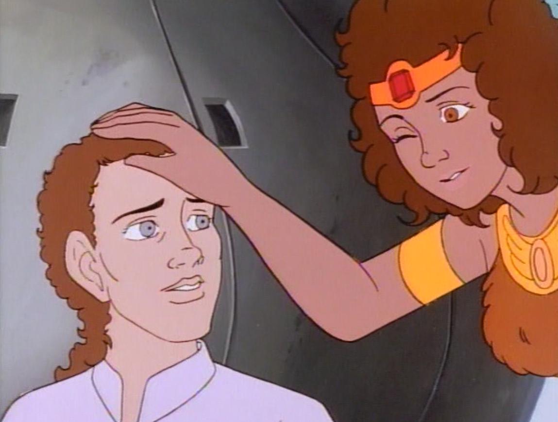 Diana pats Kosar on the head