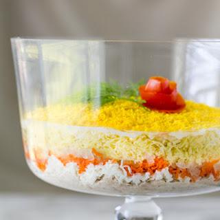 Mimosa Salad Recipe (Layered Tuna Salad)