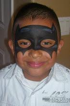 Photo: superhero batman face paint by Sofia, San Bernardino, Ca 888-750-7024