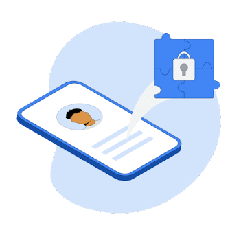 Illustration of a phone with a security lock