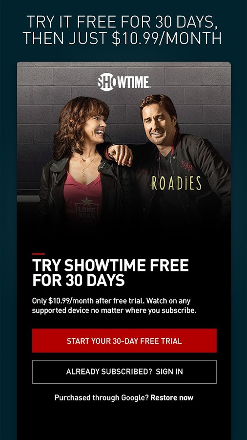 Showtime 30 day free trial