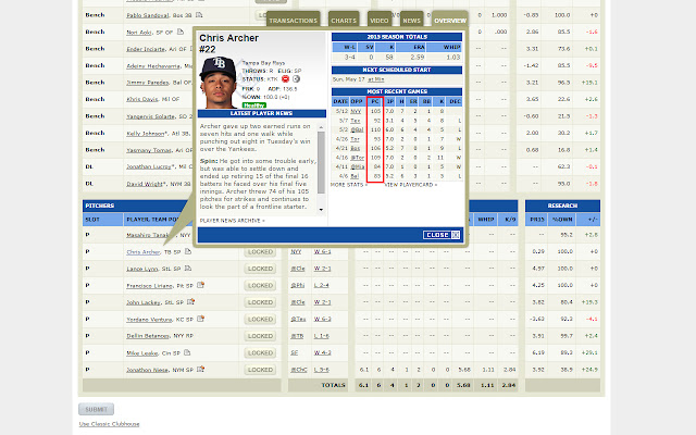 ESPN Fantasy Baseball Plus
