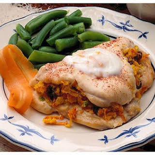 Chicken Breasts With Curried Stuffing.