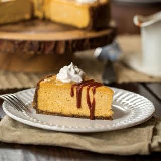 Salted Caramel Pumpkin Cheesecake.