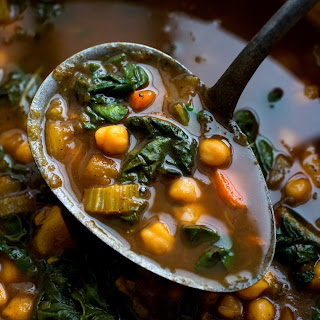 Moroccan Chickpeas With Chard