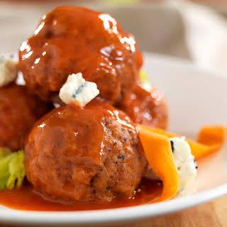Pork Buffalo Meatballs.