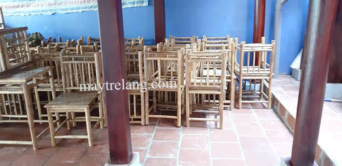Giao bàn ghế tre quán ăn ở Thủ Đức