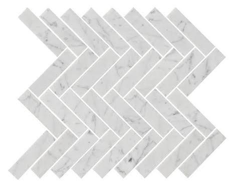 U Fishbone Carrara Polished