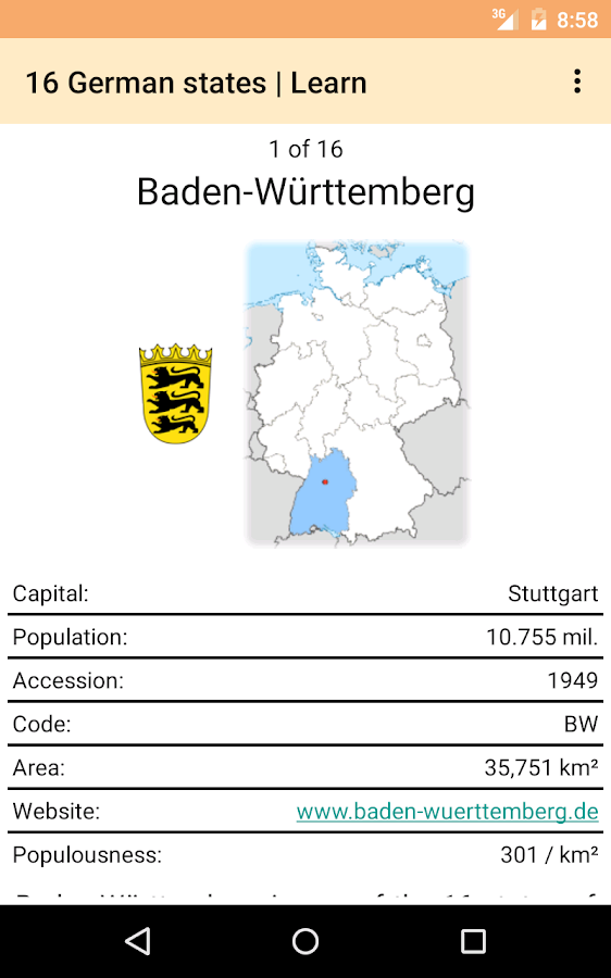 States and Cities of Germany- screenshot