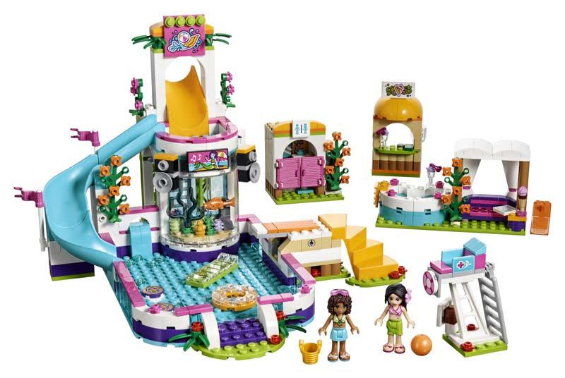 Contenido de Lego® 41313 Piscina de Verano de Heartlake