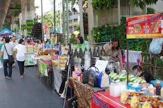 Photo: Silom market underneath the skytrain