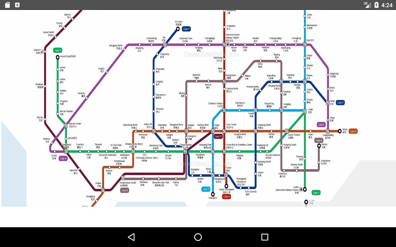 shenzhen metro map   android apps on google play - shenzhen metro map  screenshot