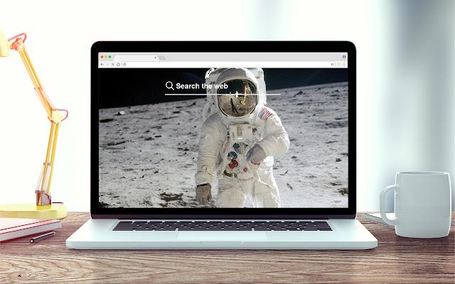 Astronauts New Tab Space Theme