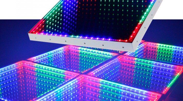 Led sàn 3D vô cực cho nội thất phòng hát
