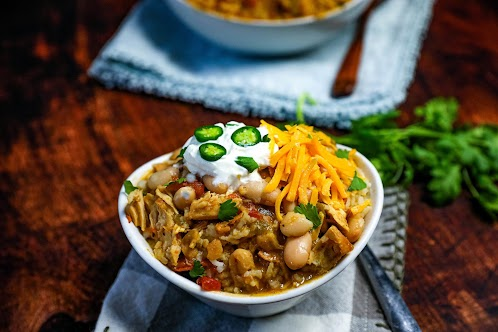 Slow Cooked White Chicken Chili
