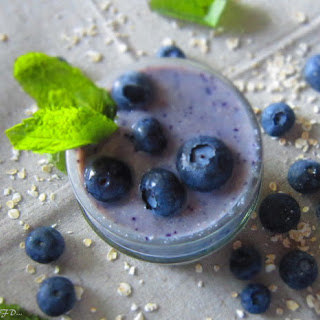 Blueberry Banana Oatmeal Smoothie.