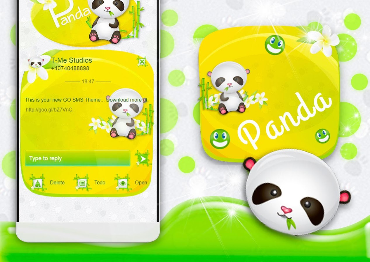 Gmail panda theme - Panda Go Sms Screenshot