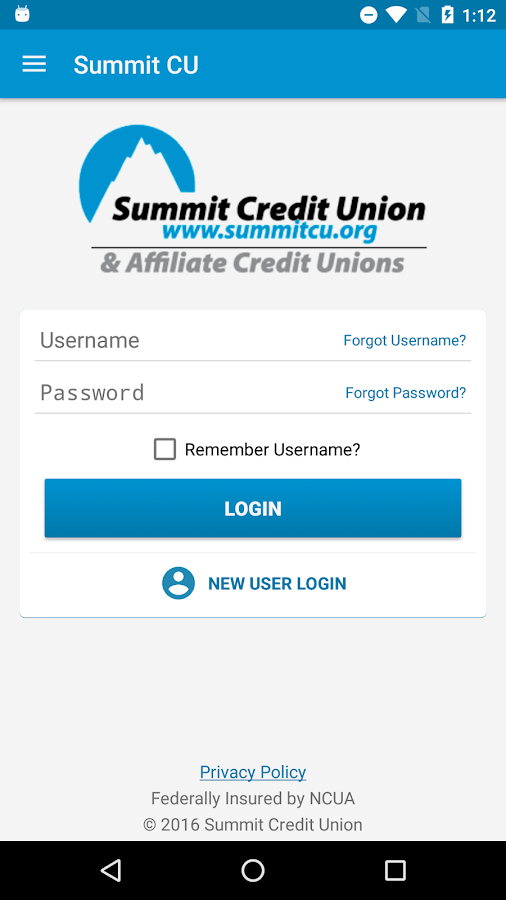 Summit Credit Union- screenshot