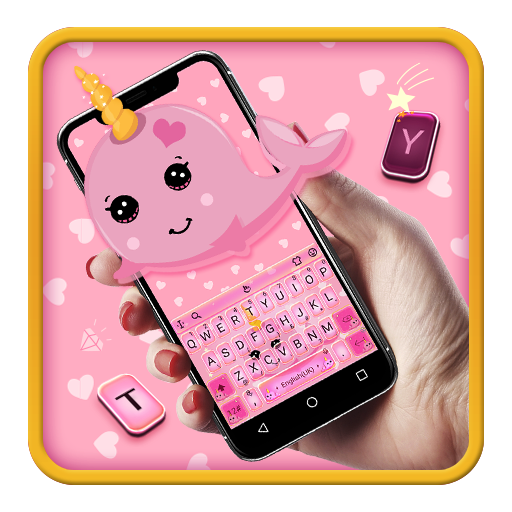 Catchy Pink Unicorn Whale Keyboard Android APK Download Free By Bs28patel