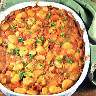Greek Style Baked Lima Beans.