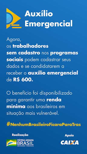 CAIXA | Auxílio Emergencial screenshot for Android