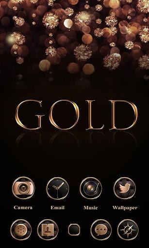 免費下載個人化APP|Gold Go Launcher Theme app開箱文|APP開箱王