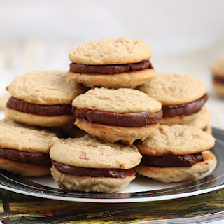 Fudge Filled Irresistible Peanut Butter Cookies.