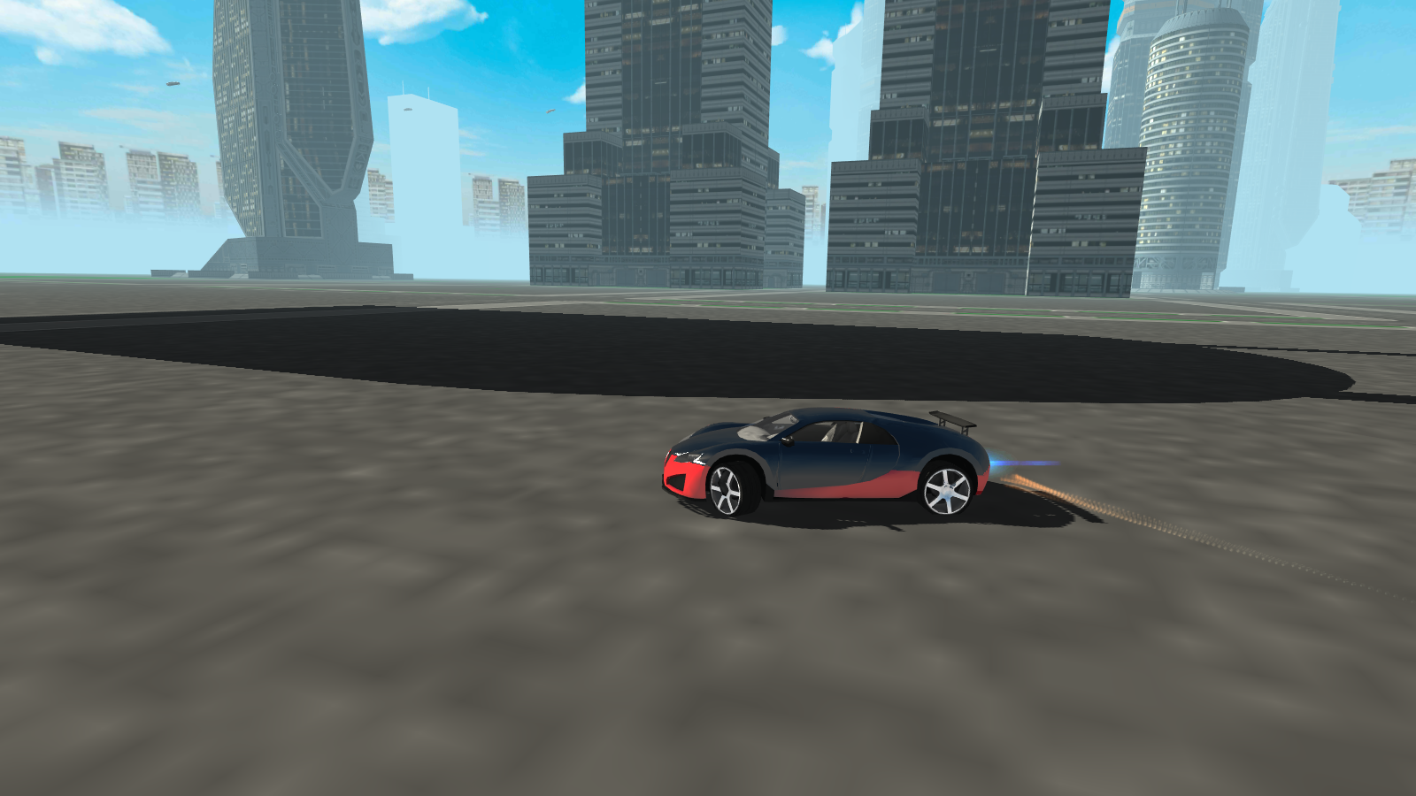 flying future super sport car screenshot