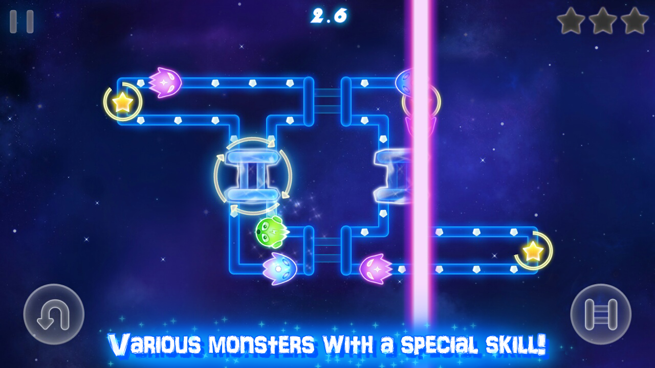 Glow Monsters - Maze survival- screenshot