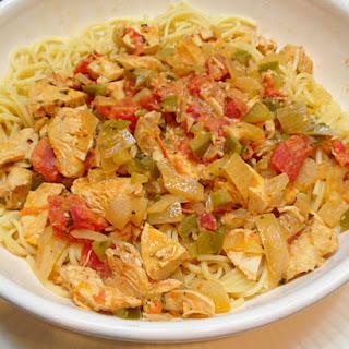 Chicken a la Creole Spaghetti