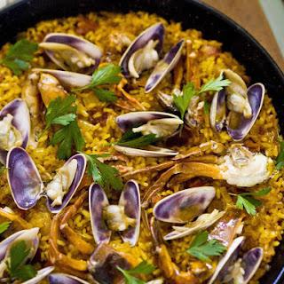 Soft Shell Crab Paella.